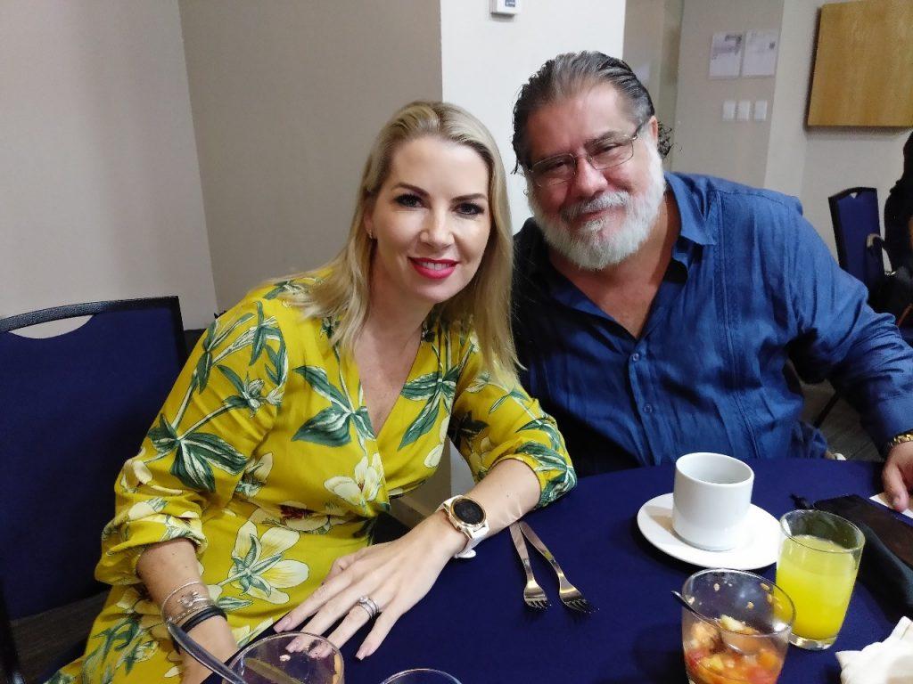 Zephné Weston (Asante Travel) y Sergio González (AMAV)